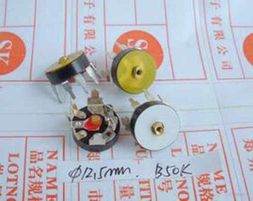 شحن مجاني!! 4 قطعة RV12 b50k/مفاتيح/موازين جهد الراديو/خط زاوية 90 درجة/مكون إلكتروني