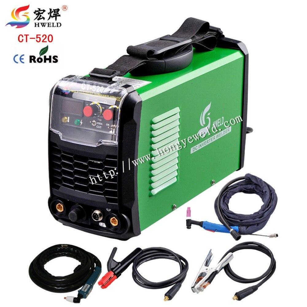 Tig Soudeur 3in1 Portable Machine De Soudage CT520 Inverter Soudure Air Plasma Cutter Soudeur Tig Plasma Kaynak Makinesi 220 V HWELD