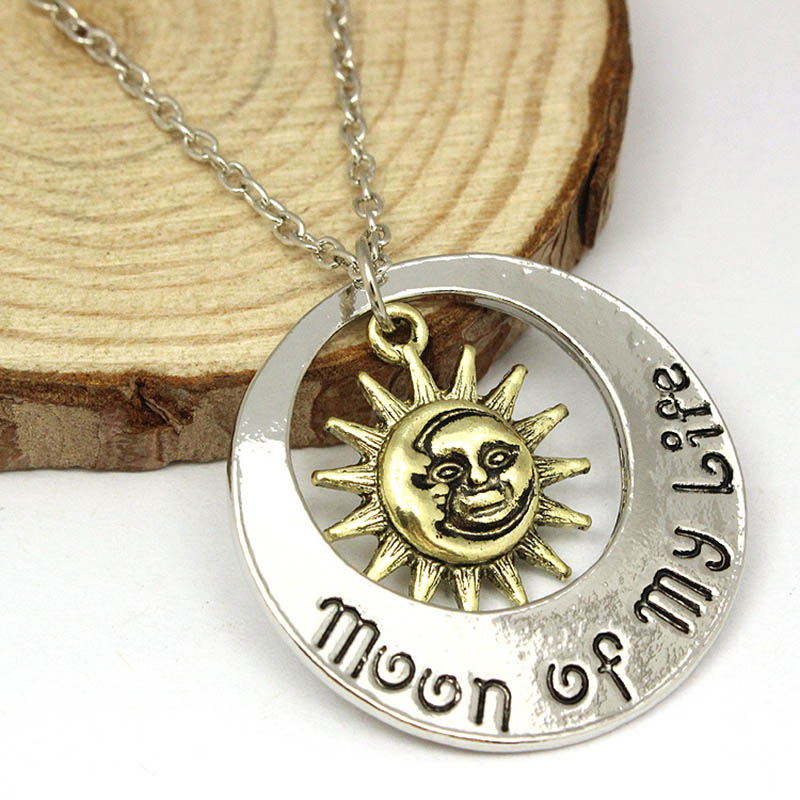2015 Movie Jewelry New Fashion moon of my life Sun Star necklace Song Of Ice And Fire Necklace Game Of Thrones Pendants XL303