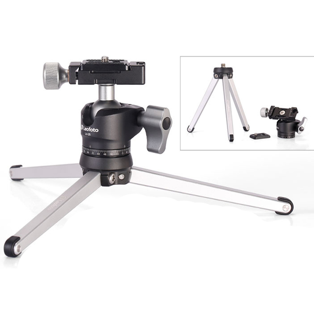 Mini Portable Table Tripod for Camera / Desk Top Stand With Ball Head / Can be Put in Pocket / Similar with RRS TFA-01