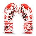 Luvas de Kick Boxing MMA Womens/Mens Luvas de Muay Thai Boxe/MMA/Karate/Taekwondo Couro PU guantes de boxeo