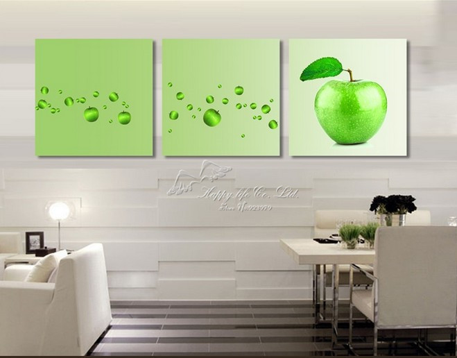 3 Panel Modern Wall Painting beautiful scene green tree bud oil ...