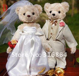 Рождество подарок свадебный подарок мишки плюшевые игрушки пара мишки
