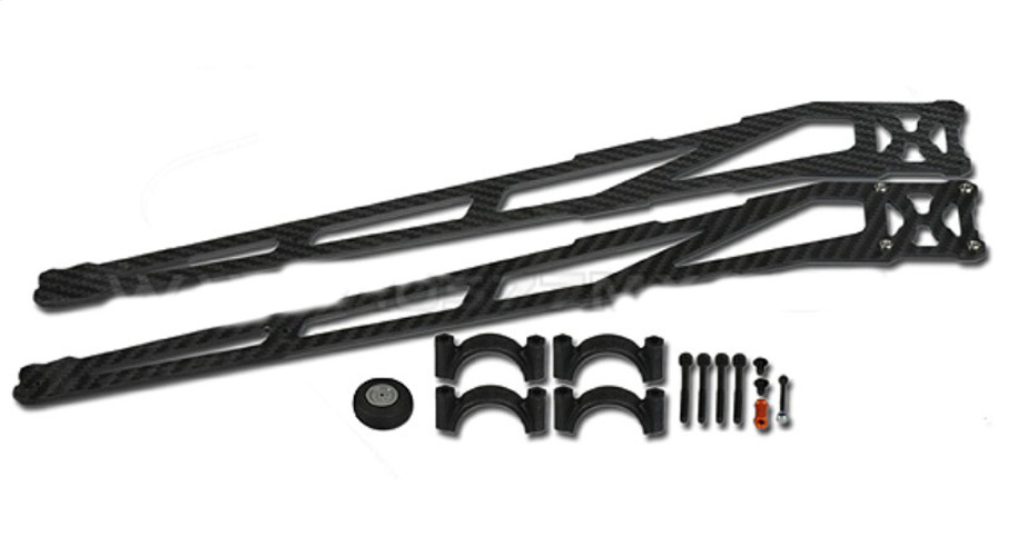 ФОТО F07305 Tarot 25MM Carbon Fiber Landing Skid TL100B05 Black for 8-Axle Multicopter Aircraft