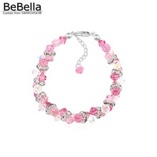 BeBella 4 colors classic crystal rhodium plated bracelet made with Austrian crystals from Swarovski for Valentine's Day gift