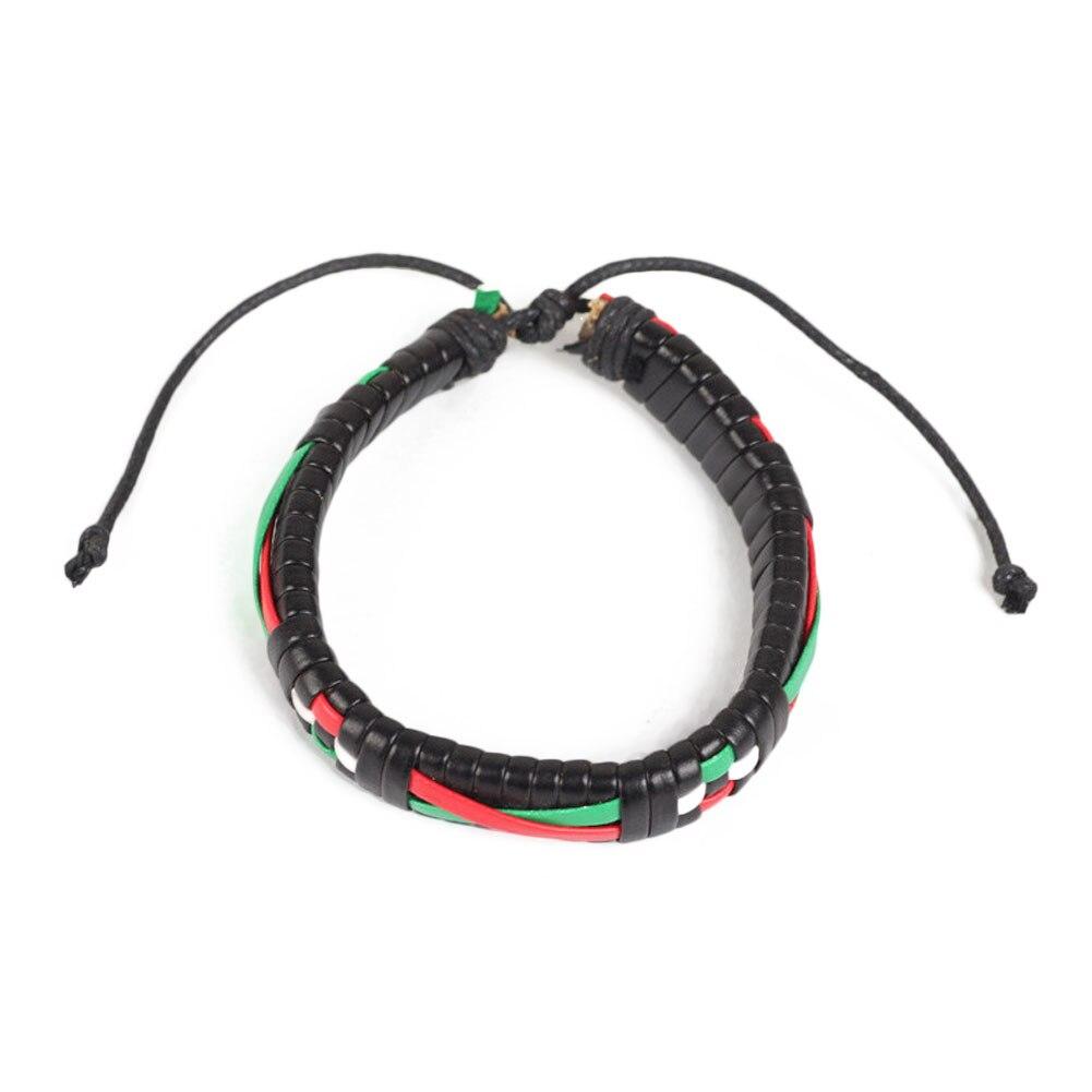 1pcs Multi Color Hand Braided Bracelet Free Style Leather Adjustable Bracelets