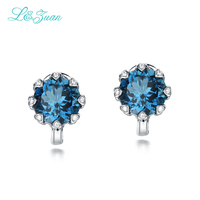 Direct Selling Real Plant Women Trendy 925 Sterling Natural Topaz Stone Elegant Clip Earrings For Woman Exquisite jewelry Gift