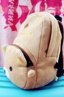 бесплатная доставка 3д медвежонок rilakkuma детские мультфильмы благоухани / плюшевые на открытом воздухе рюкзак / мешок школы мальчиков и девочек дети подарок