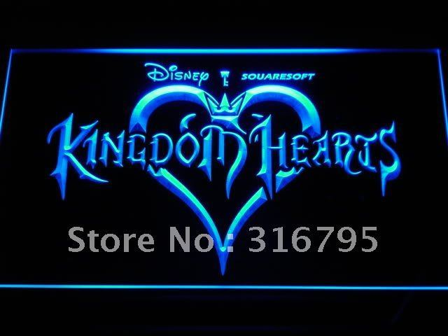 e039 Kingdom Hearts Sora Video Games LED Neon Sign with On/Off Switch 7 Colors to choose