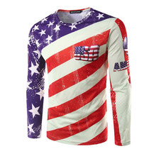 2016 Fashion Brand Hip Hop Men'S Casual 3D Printed T Shirt US UK Five-Pointed Star National Flag Cotton Men Clothes T-Shirts