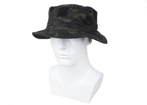 MCBK Men s Tactical Bucket Hat Multicam Black army Round-brimmed Sun  Boonies cap 5ef42ac9e70