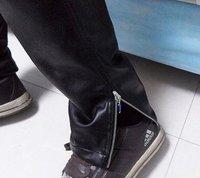 новый мужской кожаные штаны тонкий мужская кожаные штаны