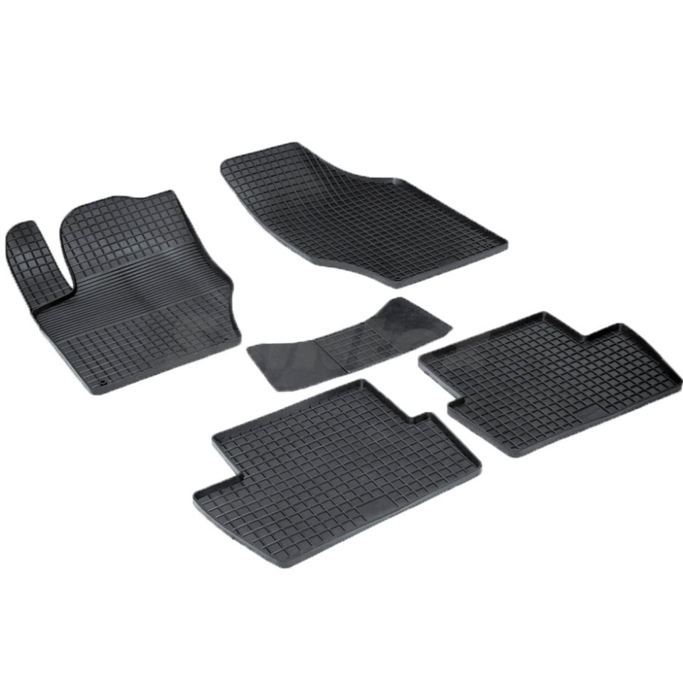 For Peugeot 408 2012-2019 rubber grid floor mats into saloon 5 pcs/set Seintex 00746 for mazda 6 2002 2008 rubber grid floor mats into saloon 4 pcs set seintex 00194
