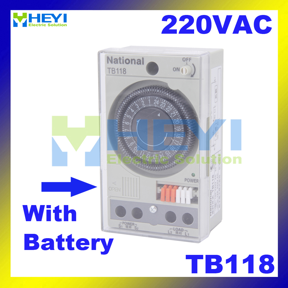 Mechanical control switch TB118 quartz motor drive power compensation time switch with battery