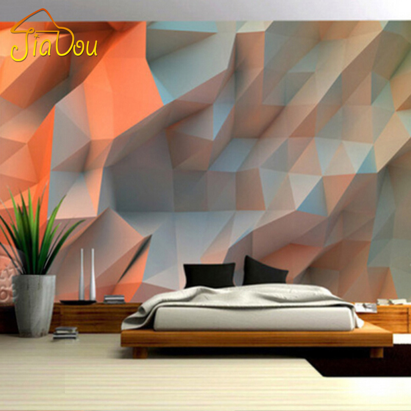 Custom Photo Wallpaper 3d Creative Orange Space Wallpaper Unique Design Mural Bedroom Kids Room Wall Painting