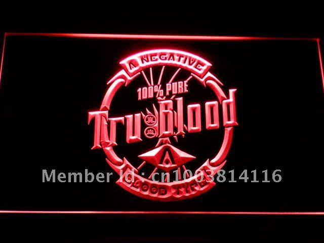 g151 True Blood Badge LED Neon Sign with On/Off Switch 7 Colors to choose