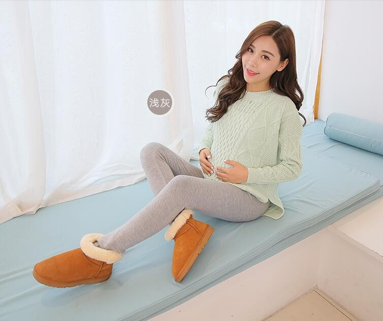 Women Clothing High Waist Leggings Maternity Clothes Winter Leggings Thickened With Velvet Pregnant Women Trousers Warm Pants 3