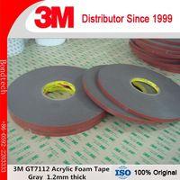 3M Acrylic Foam Tape GT7112, Gray, 1.2 mm, Attaching Automotive Exterior Trim, 10mmX33M/Lot