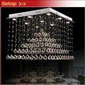 ZX K9 Crystal LED de la Lámpara de Techo Lustre Pirámide de Onda Rectangular de Iluminación Dormitorio Sala de estar Comedor Vestíbulo del Hotel de La Lámpara
