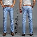 Мужчины зима жан SU LEE джинсы Высокого качества Бренда мужские брюки мужчина большой размер Брюки моды жан робин джинсы мужчин брюки Свет синий
