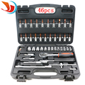 46pcs/set 6.35mm 1/4-Inch Socket Set Car Repair Tool Ratchet Torque Wrench Combo Tools Kit Auto Repairing Wrenches Hand Tools