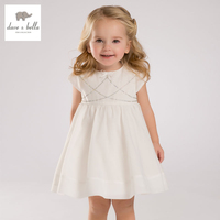 DB1907 Dave Bella Summer Baby Girl Princess Dress Baby Wedding Dress Kids Birthday Clothes Dress