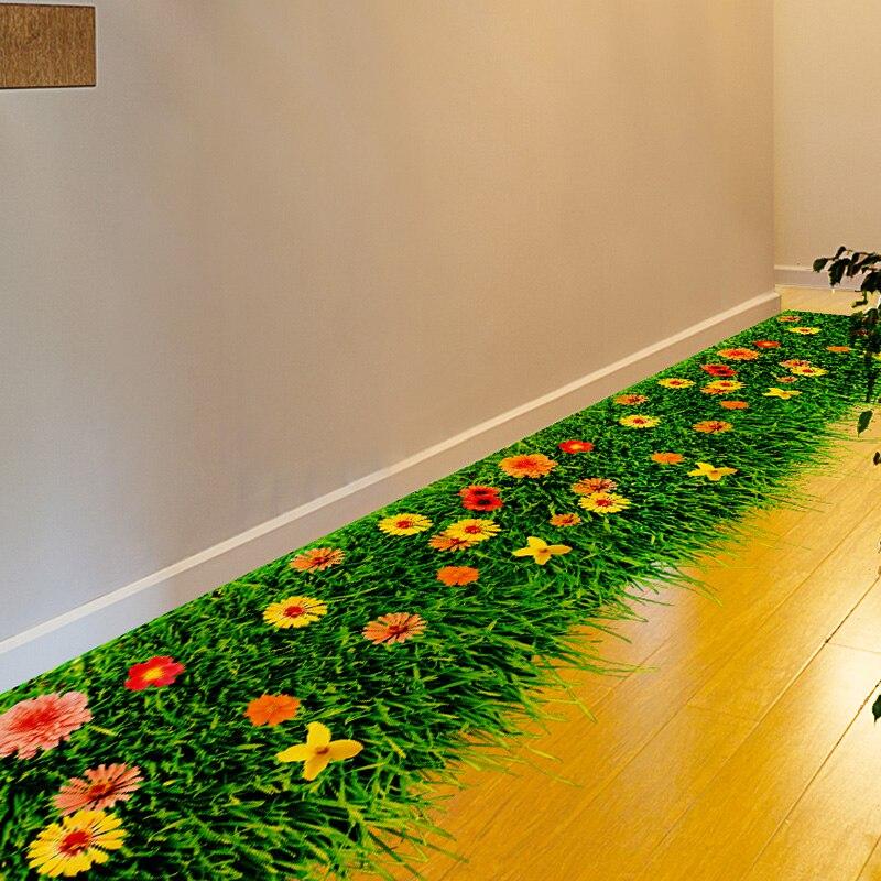 [SHIJUEHEZI] Flower Lawn Floor Sticker Environmental PVC Material DIY Home Decor Sticker for Kids Room Kindergarten Decoration