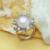 Encantos bohemios punk anillo 10-11mm joyería de perlas anillo de perla anillo de world of warcraft fenasy 2017 nuevo rosa anillo de perlas de las mujeres