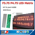 Free shipping F3.75 led dot matrix 64x16pixel 304x76mm P4.75 led matrix module