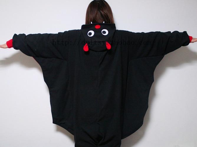 Горячая унисекс для взрослых животных пижамы для Для женщин Bat Костюмы для косплея Onesie Одна деталь Повседневные Вечерние платье флис