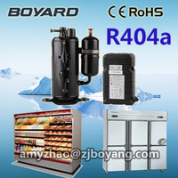 R22 R404a Hermetic Vertical Rotary Mini Refrigerator Compressor For Display Refrigerators