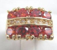 сша размер8 новый ювелирные изделия венчания egagement 3.86 карат великолепный крови рубин в 14к желтый золотое кольцо
