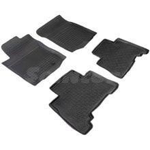 Резиновые коврики для Toyota Land Сruiser 150 Prado с высокими бортиками (Seintex 86069)