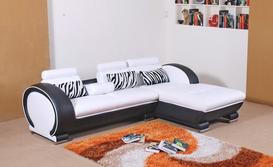 Modern Sofa Design Small L Shaped Sofa Set Settee corner Leather ...