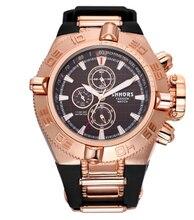 SHHORS Relojes Para Hombre de Primeras Marcas de Goma Grande Reloj Hombres Deportes Relogios Impermeable erkek saat Cuarzo Reloj Para Hombre Militar