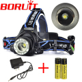 Zoomable Headlamp Headlight 2000Lm XML T6 Rechargeable LED head torch Adjust Focus +Charger+ Battery