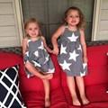 toddler girls dress star pattern skirt sleeveless backless beach style baby girl clothing costumes cotton summer lovely outwear