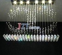 M Beste Preis wassertropfen K9 kristall deckenleuchte wohnzimmer plafon lampe edelstahl moderne deckenleuchte