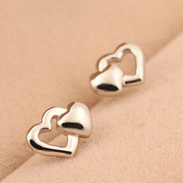 Aliexpress Free Shipping 925 Sterling Silver Earrings Heart Shape Fashion Design Women 2017 Hotter From Reliable