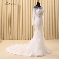 White Organza Mermaid Wedding Dresses 2016 Tulle Bride Bridal Wedding Gowns Robe De Mariage Vestido De