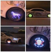 Автомобиль Стайлинг Колеса Мигающий Свет Концентратор Caps Колеса Освещение Лампы Автомобильные Аксессуары Шин Обод Свет Лампы Украшения USB Модели показать