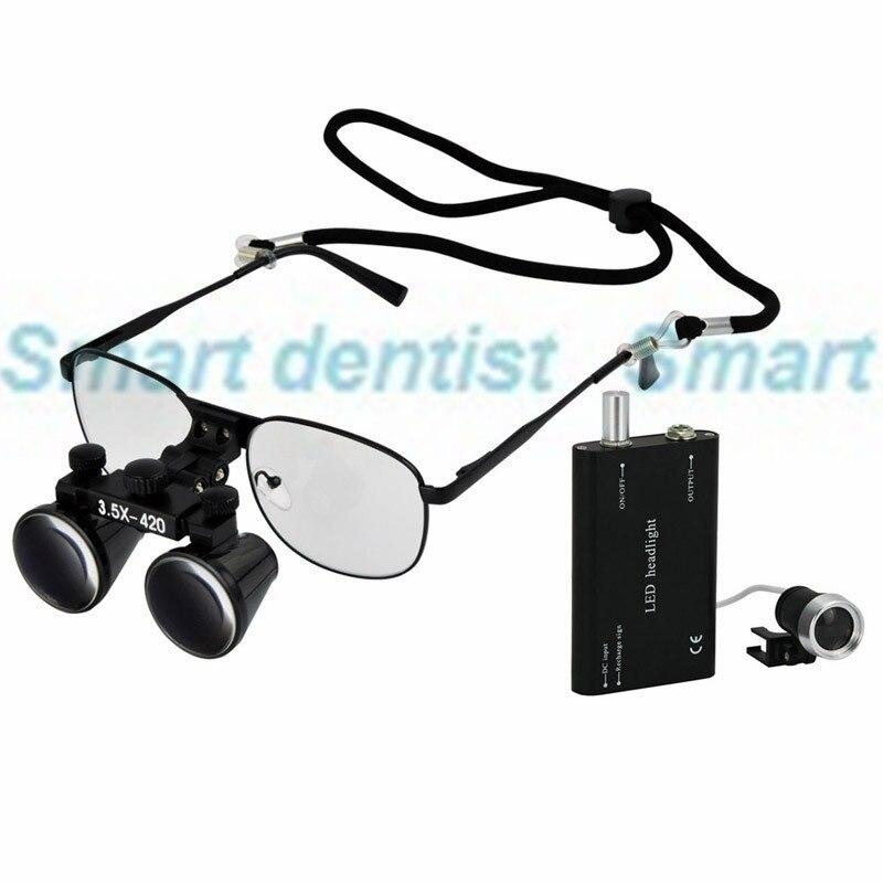 2016 3.5X grossissement remplaçable lunettes à courte vue cadre en métal loupes chirurgicales dentaires dentiste opération loupe-in Blanchiment des dents from Beauté & Santé    1