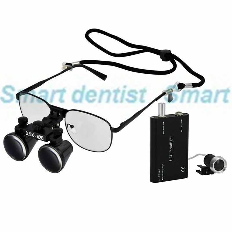 2016 3.5X magnification replaceable shortsighted glasses metal frame dental surgical loupes dentist operation magnifier neff therm navy