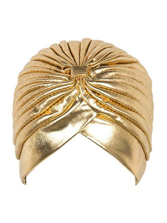 Golden Turbante Hijab Turban Headwrap Hat Cap Women Shiny High Quality Chemo Bandana Hijab And Muslim Indian Cap G-205