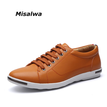 Misalwa Hommes Casual Chaussures Chaussures Confortable Hommes Richelieus En Cuir Hommes Appartements Grande Taille 6-12.5