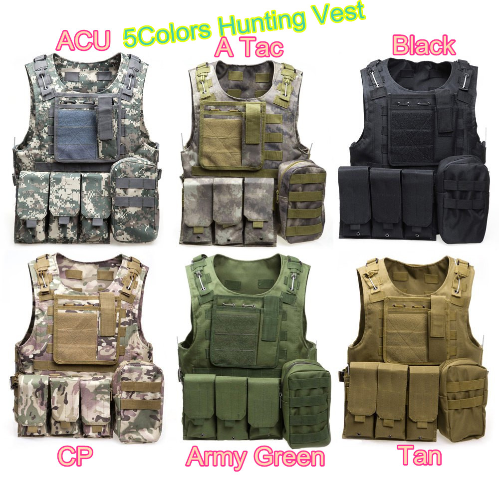 Multicam Paintball Airsoft Armour Tactical Military Combat Assault Vest Multi Pockets Training Hunting Waistcoat Safety Clothing outdoor training mesh waistcoat safety clothing hunting equipment swat airsoft cs paintball tactical hunting combat assault vest