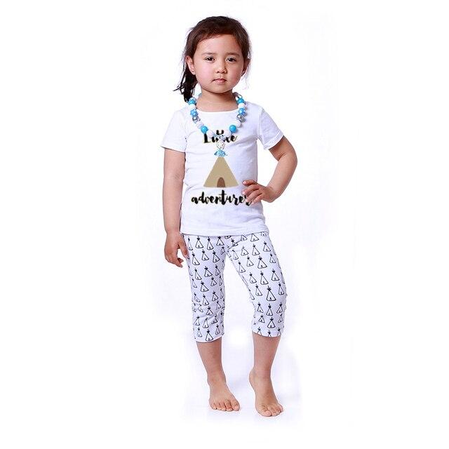 new style aef50 17058 US $50.77 |2016 kaiya vestiti delle ragazze di estate di stile di estate  del bambino vestiti della ragazza baby girl t shirt capri vestiti del  bambino ...