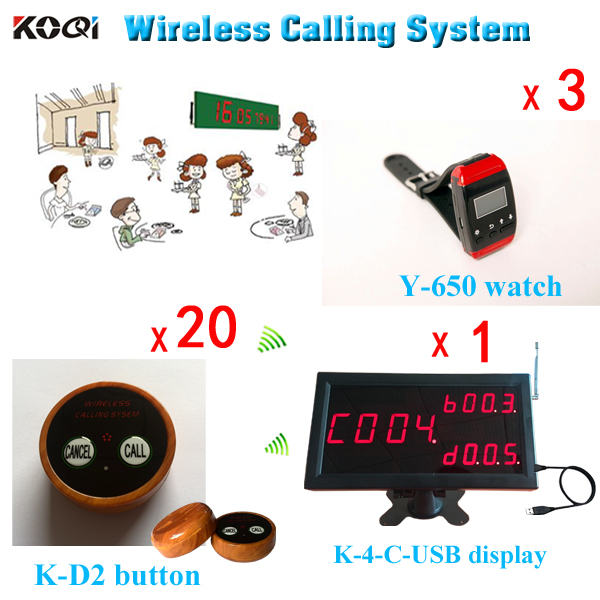 Ycall Wireless Sound Calling System USB Software Monitor K
