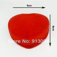ювелирные изделия комплект пакет коробка + 9 х 9 см красный бархат упаковка подарочные коробки + 12 шт./лот бесплатная доставка bx0052