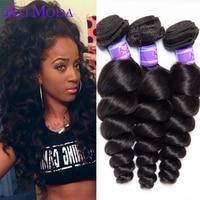 Malaysian Virgin Hair Extension 4 bundles Human Hair Malaysian Loose Wave Rosa Hair Products 6A Unprocessed Virgin Hair Weave